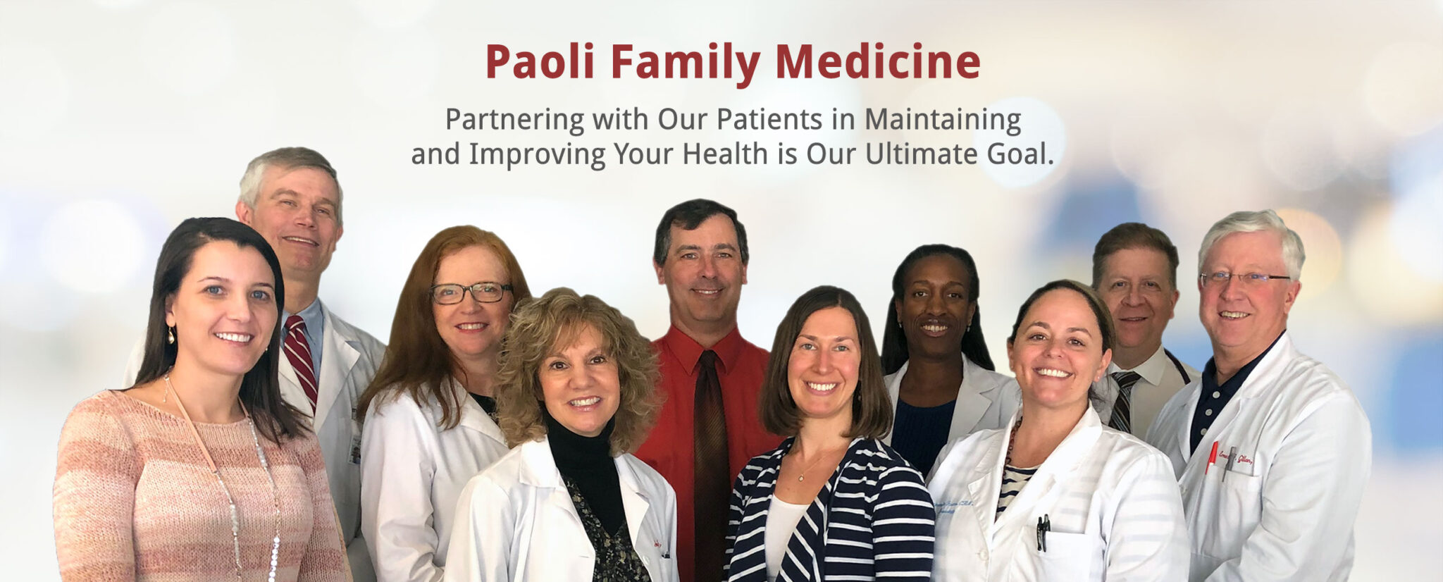 Paoli Family Medicine - Care for the Entire Family Banner - 2020